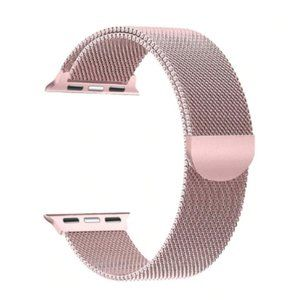 NEW Rose Pink Milanese Stainless For Apple Watch